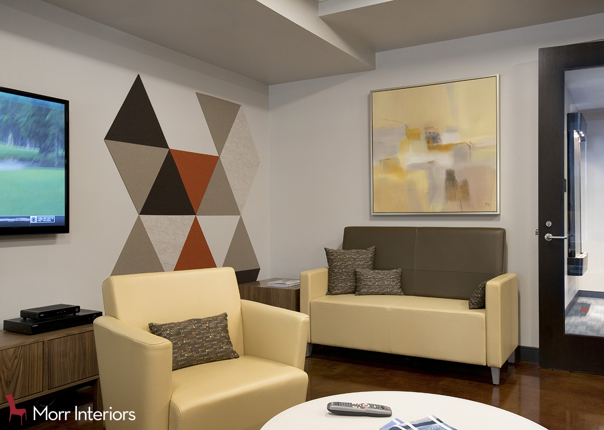 Mezzo Design Lofts Community Room with Acoustic Panels Close Up